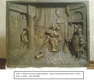 cuadros en relieve bronce antiguo stiacciato