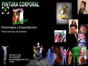 servicio artistico de cuerpos con pintura artistica