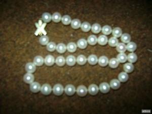vendo collar de 41 perlas cultivadas con enganche de oro 18k