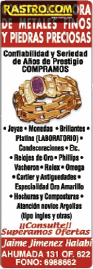 compro joyas cualquier estado, supero ofertas, efectivo (02)6988662