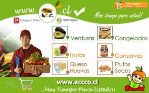 frutas y verduras a domicilio www.accco.cl (despacho gratis zona oriente)