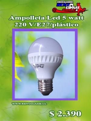 ampolleta led 5w/220v luz fria/luzcalida/pl /precio: $ 2.390
