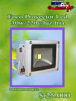foco proyector led  30 watt/luz fria  precio oferta$  25.000