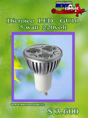 dicroico  led - gu10 5 watt  220volt/ luzfria o calida precio: $ 3.600