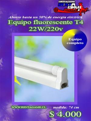 equipo fluorescente t4 22w/precio:  $ 4.000