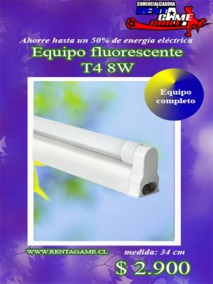 equipo fluorescente t4 8w/equipo completo precio:  $ 2.900
