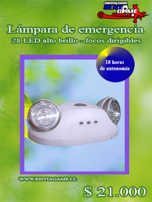 lampara de emergencia  led 18 horas/precio: $ 21.000