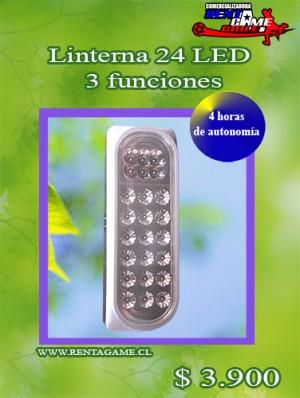 linterna 24 led 3 funciones/precio:  $ 3.900