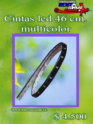 cintas led 46 cm. multicolor/precio: $ 4.500