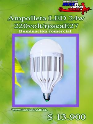 ampolleta led, 24 watt/220volt/roscae27/iluminacion comercial $ 13.900