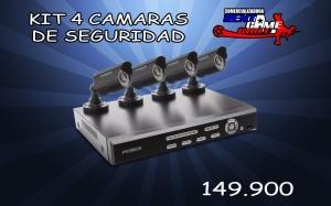 kit 4 camaras de vigilancia precio$ 149.900