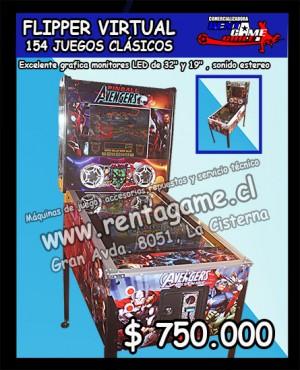 flipper virtual 154 juegos clasicos $ 750.000