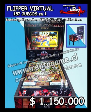 flipper virtual 157 juegos en 1 excelente grafica $ 1.150.000