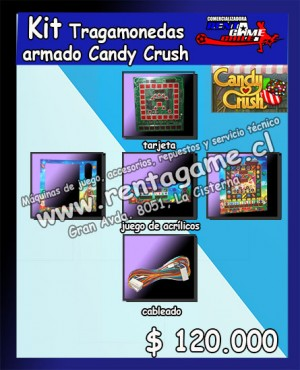 kit tragamonedas armado candy crush $ 120.000