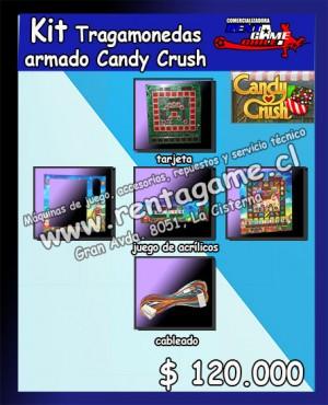 kit tragamonedas armado candy crush $ 120.000