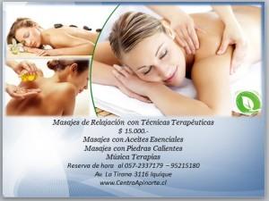 masajes de relajacion con piedras calientes en iquique
