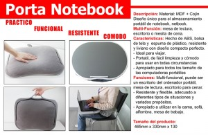 mesa porta notebook: multifuncional, para ser usada en toda superficie