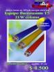 Equipo fluorescente t5 21w colores/ precio: $ 4.500